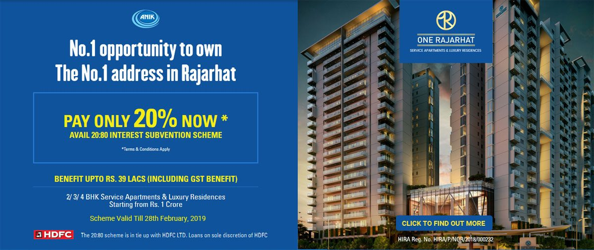 Now Pay Only 20% For Luxury Residences in Rajarhat! Know How!