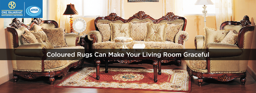Coloured Rugs Can Make Your Living Room Graceful